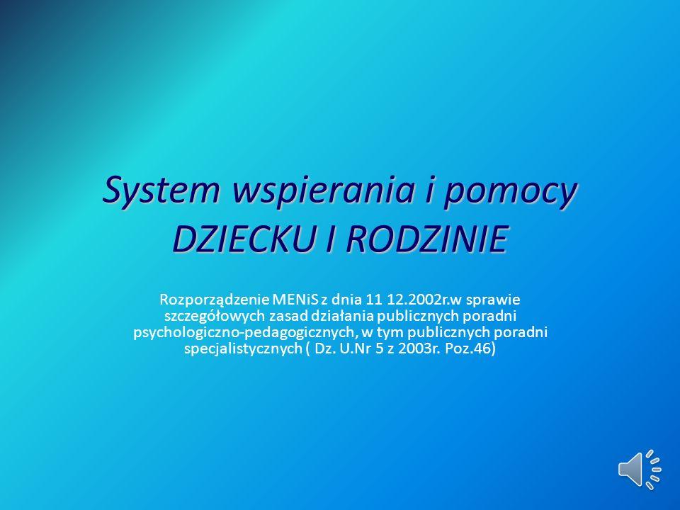 System wspierania i pomocy DZIECKU I RODZINIE