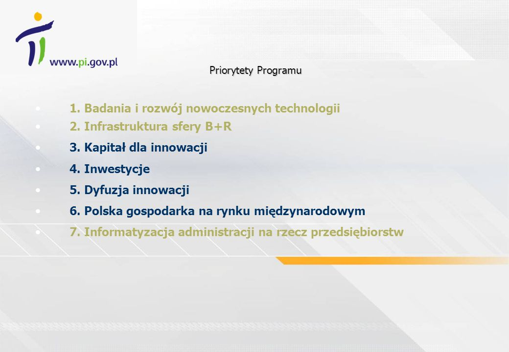 1. Badania i rozwój nowoczesnych technologii