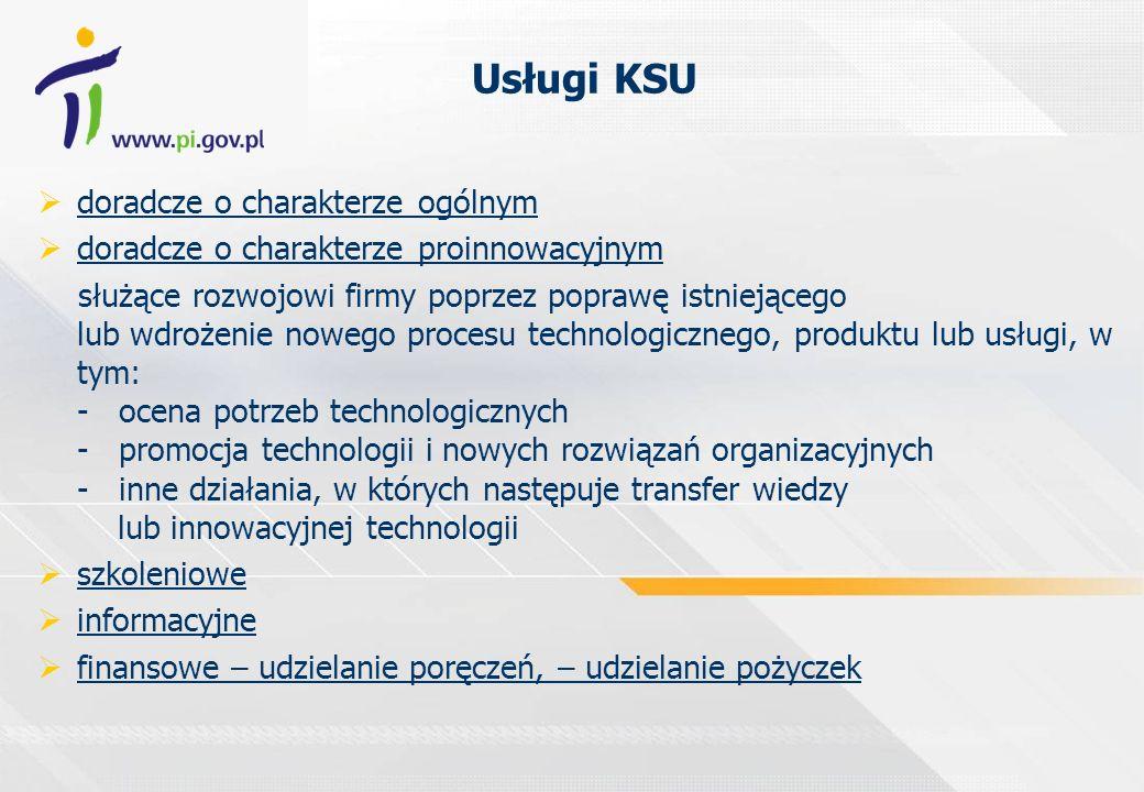 Usługi KSU doradcze o charakterze ogólnym