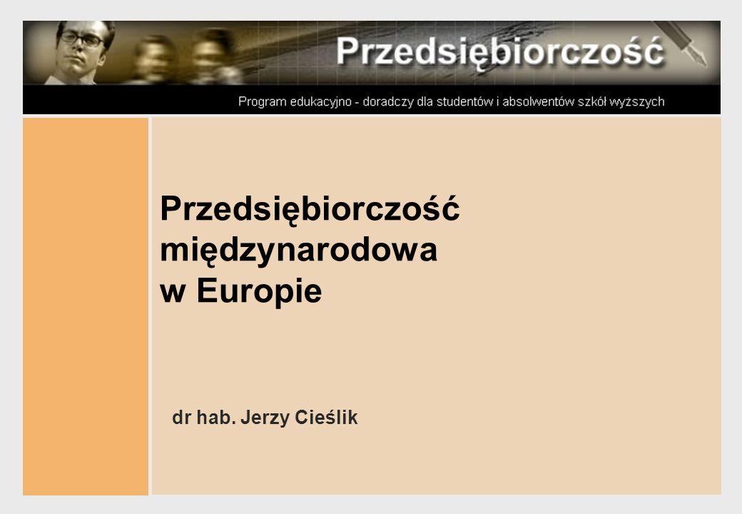Przedsiębiorczość międzynarodowa w Europie