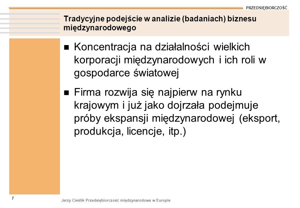 Tradycyjne podejście w analizie (badaniach) biznesu międzynarodowego