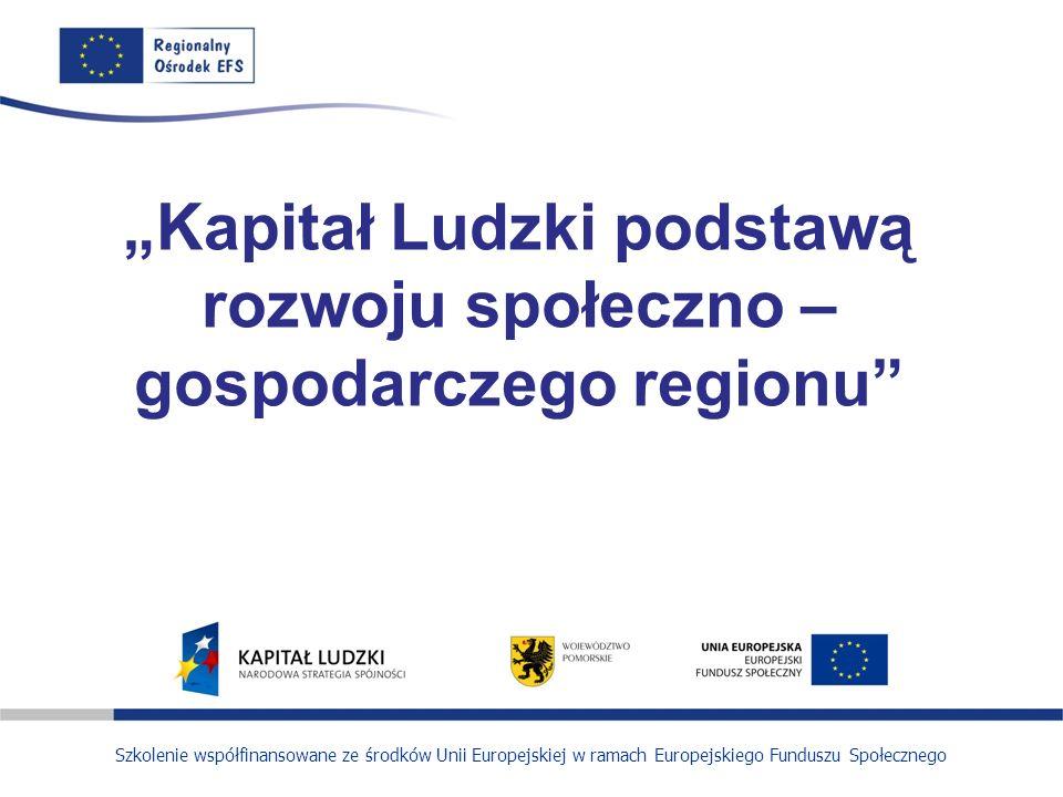 """""""Kapitał Ludzki podstawą rozwoju społeczno – gospodarczego regionu"""