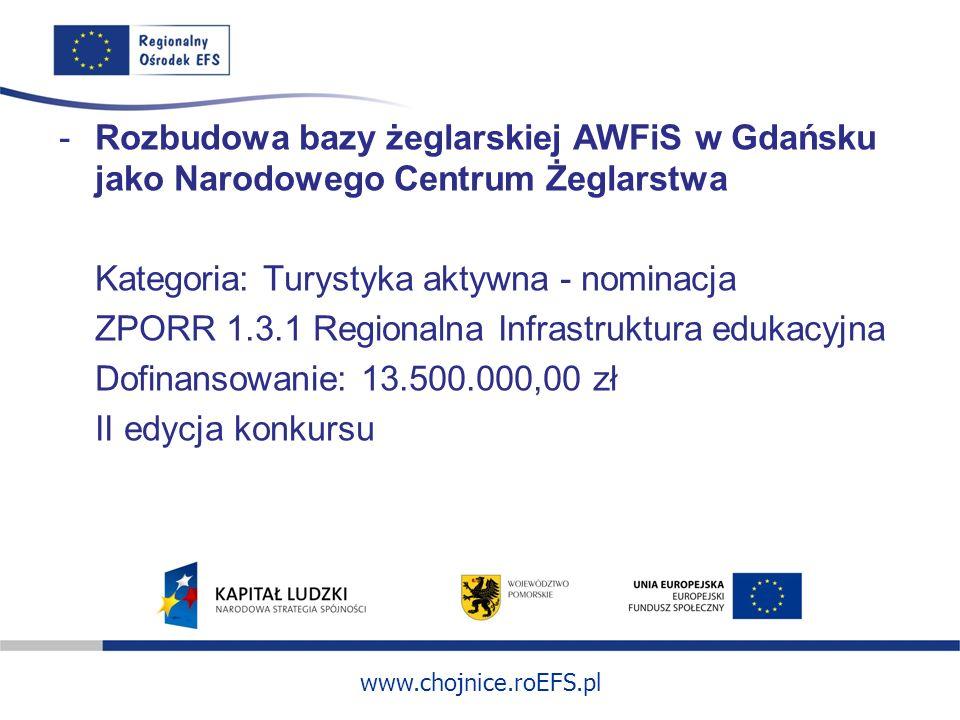 Rozbudowa bazy żeglarskiej AWFiS w Gdańsku jako Narodowego Centrum Żeglarstwa