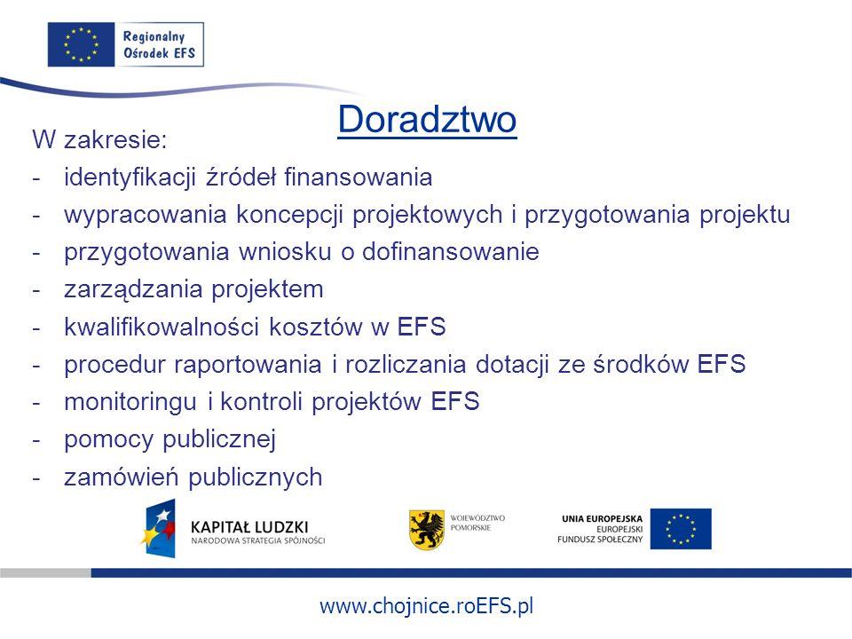 Doradztwo W zakresie: identyfikacji źródeł finansowania