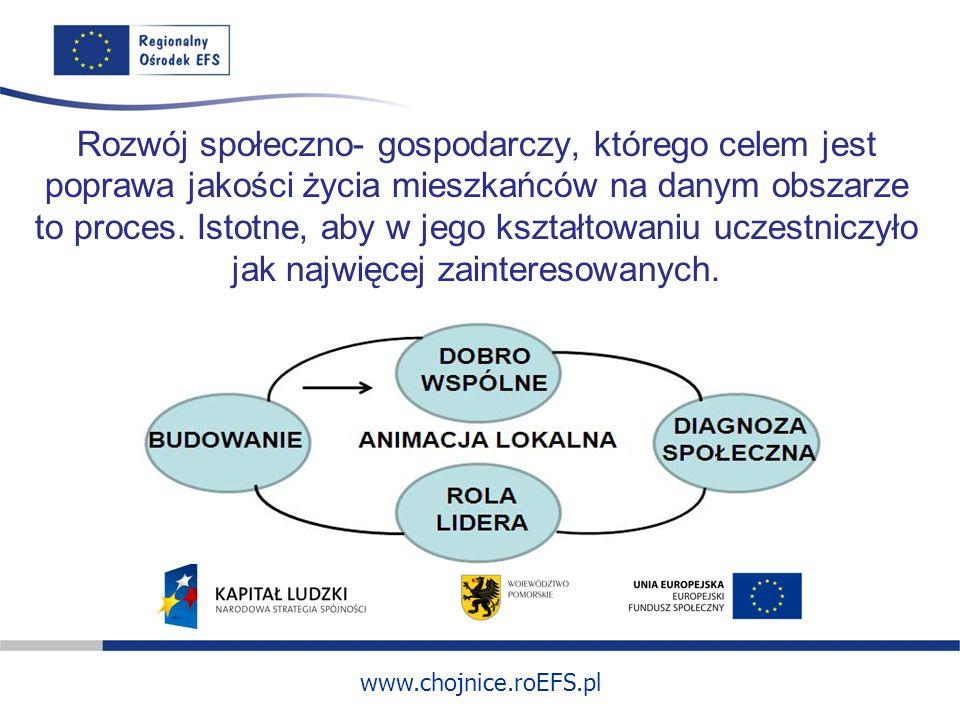 Rozwój społeczno- gospodarczy, którego celem jest poprawa jakości życia mieszkańców na danym obszarze to proces.
