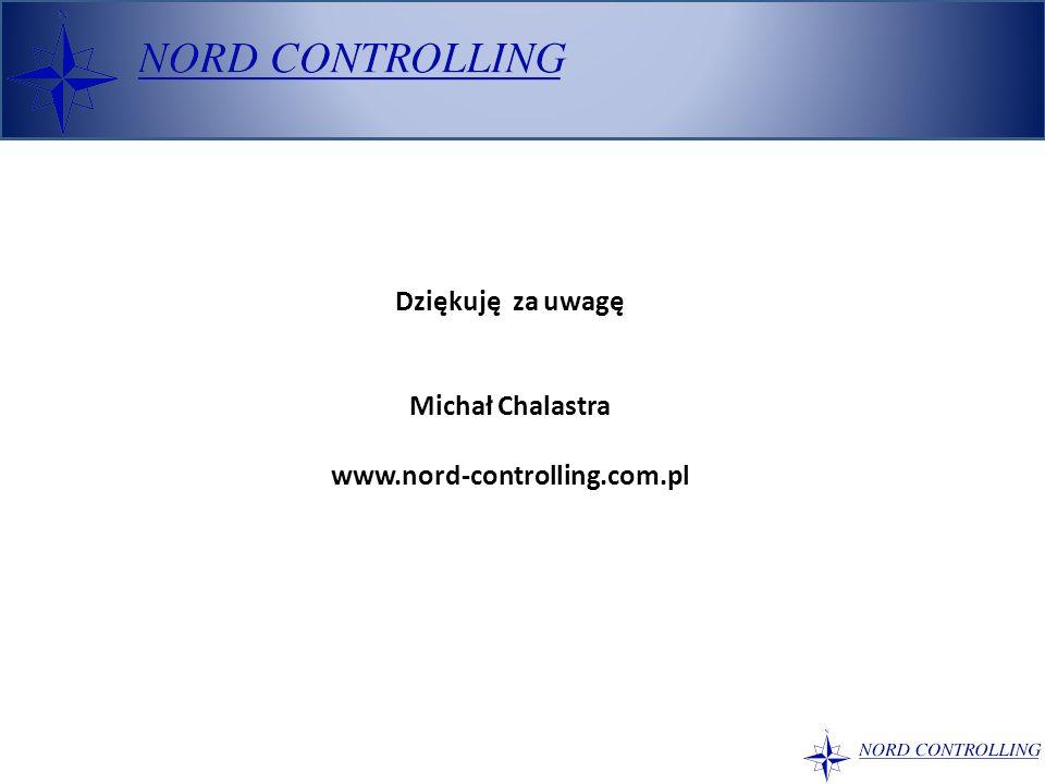 Dziękuję za uwagę Michał Chalastra www.nord-controlling.com.pl