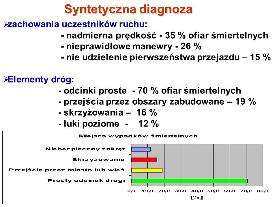 Syntetyczna diagnoza zachowania uczestników ruchu: