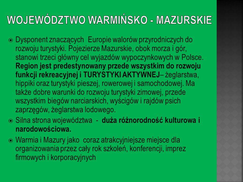 WOJEWÓDZTWO WARMIŃSKO - MAZURSKIE