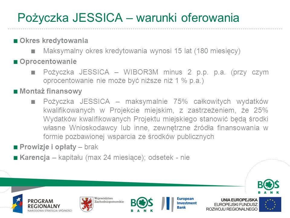 Pożyczka JESSICA – warunki oferowania