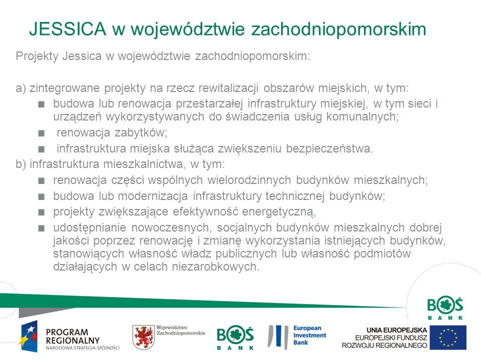 JESSICA w województwie zachodniopomorskim