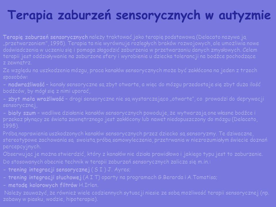 Terapia zaburzeń sensorycznych w autyzmie