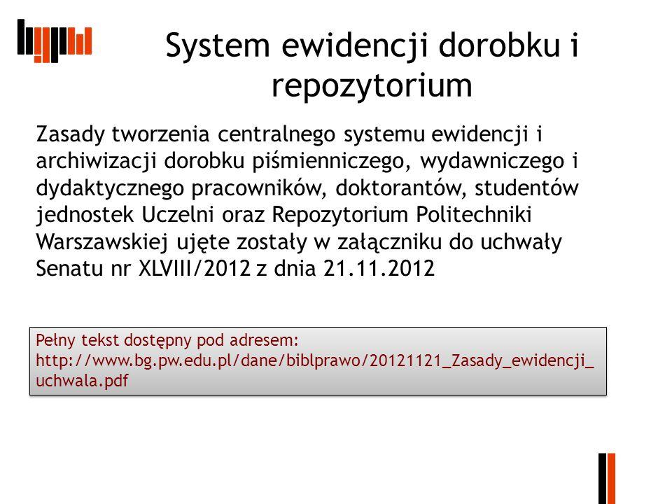 System ewidencji dorobku i repozytorium