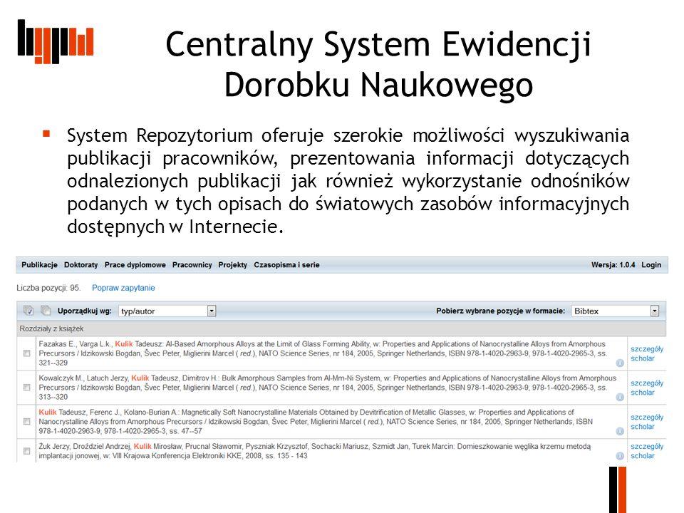 Centralny System Ewidencji Dorobku Naukowego