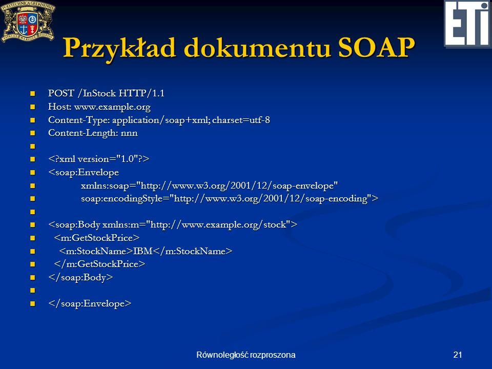 Przykład dokumentu SOAP