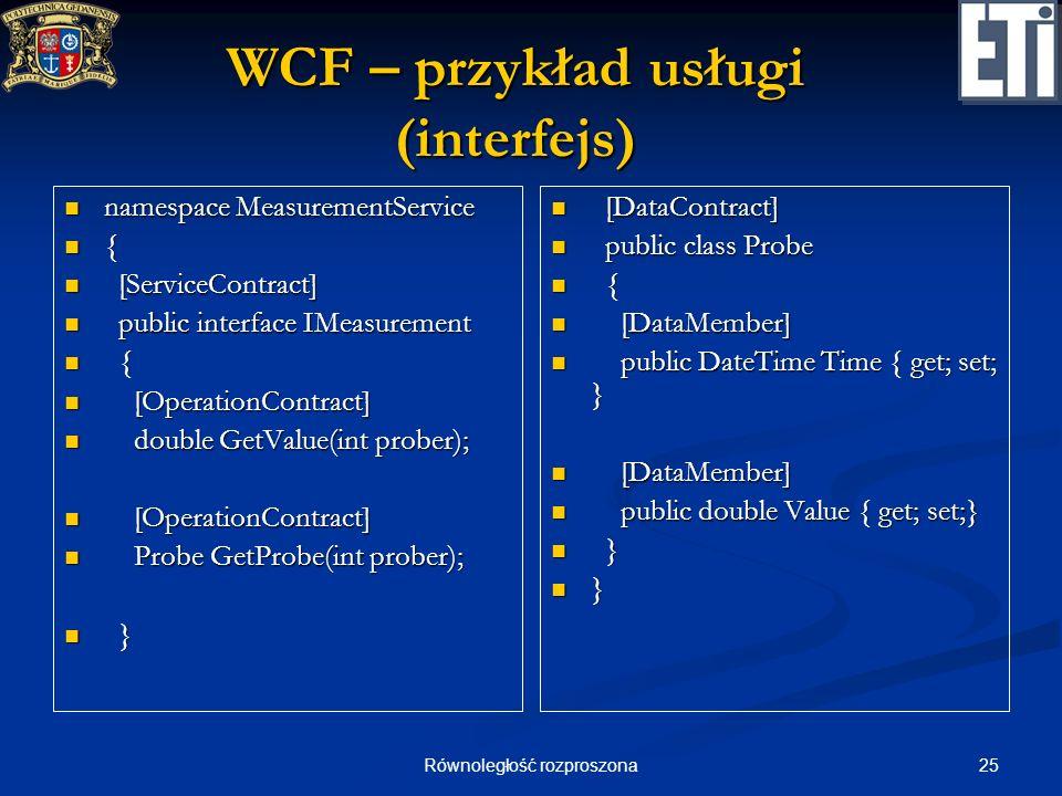 WCF – przykład usługi (interfejs)