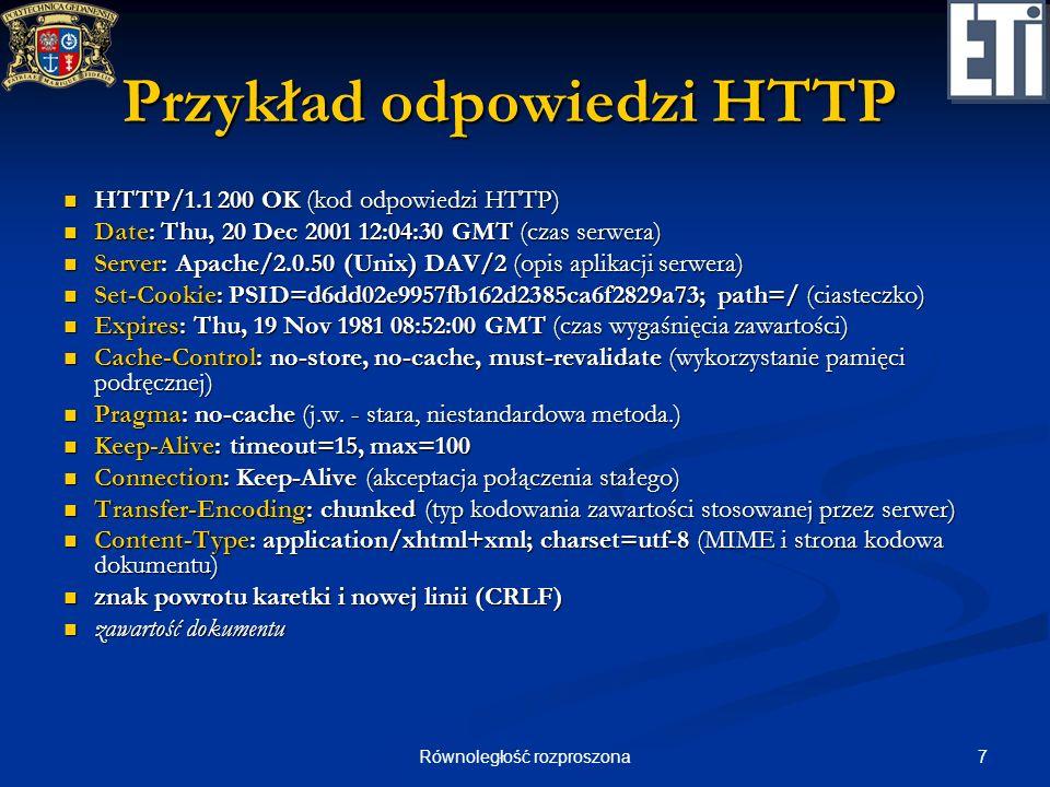 Przykład odpowiedzi HTTP