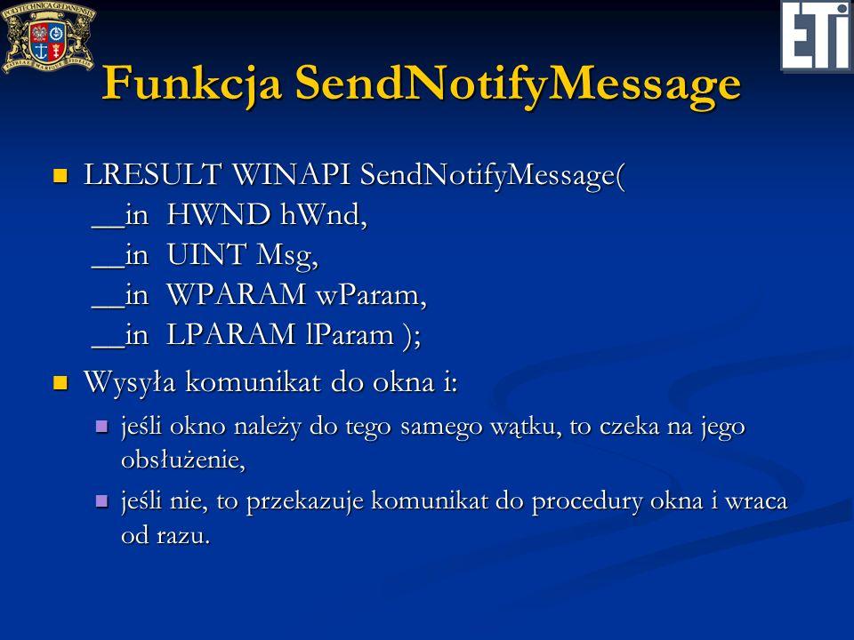 Funkcja SendNotifyMessage