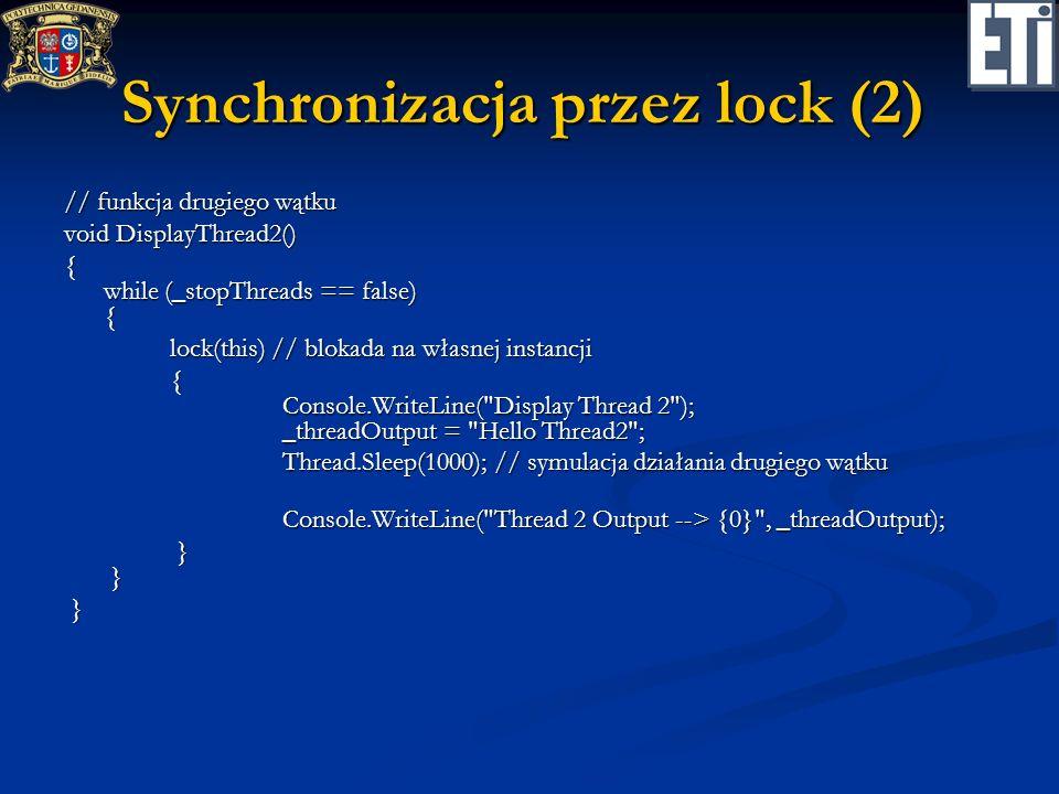 Synchronizacja przez lock (2)