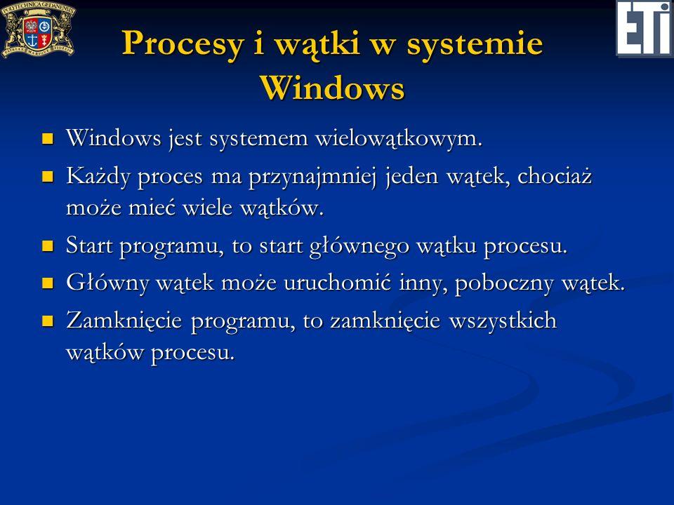 Procesy i wątki w systemie Windows