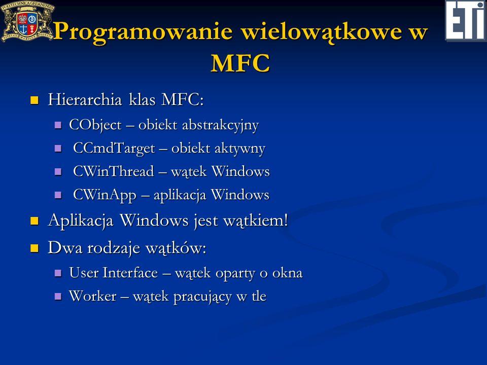 Programowanie wielowątkowe w MFC