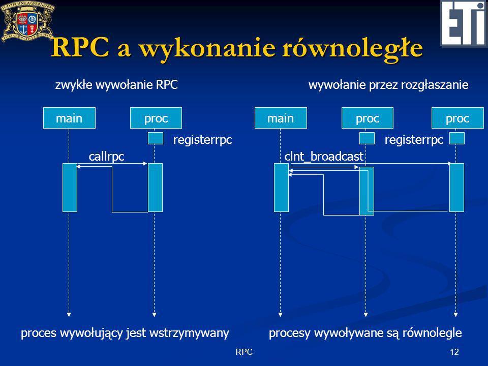 RPC a wykonanie równoległe