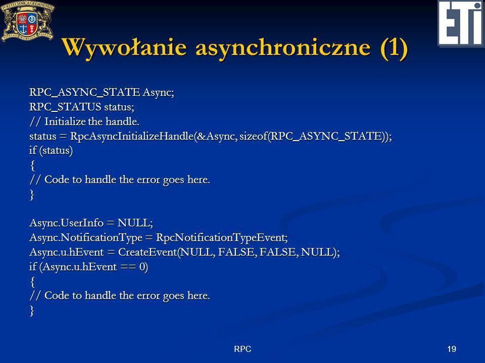 Wywołanie asynchroniczne (1)