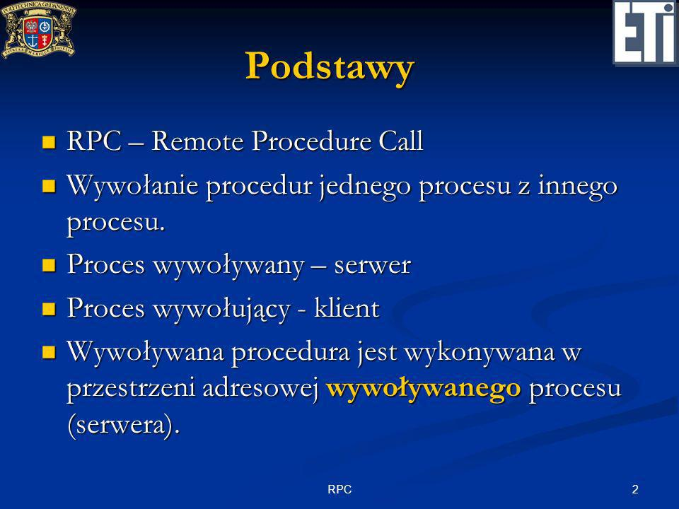 Podstawy RPC – Remote Procedure Call