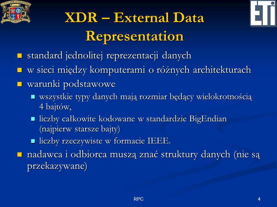 XDR – External Data Representation