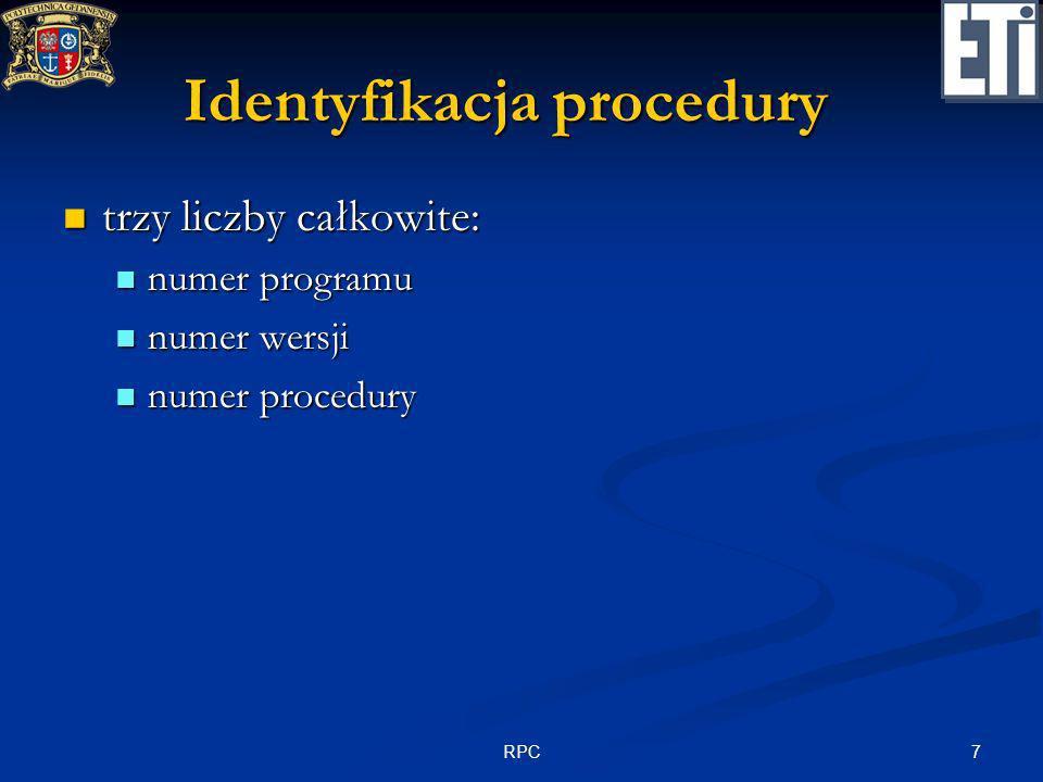 Identyfikacja procedury
