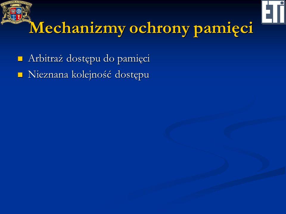 Mechanizmy ochrony pamięci