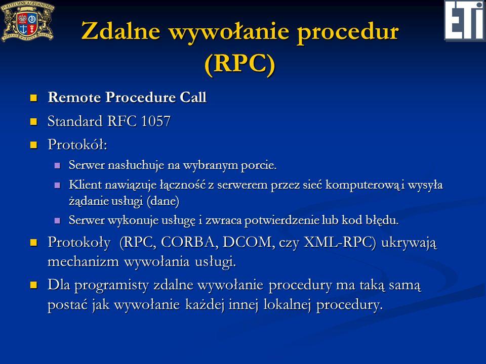 Zdalne wywołanie procedur (RPC)