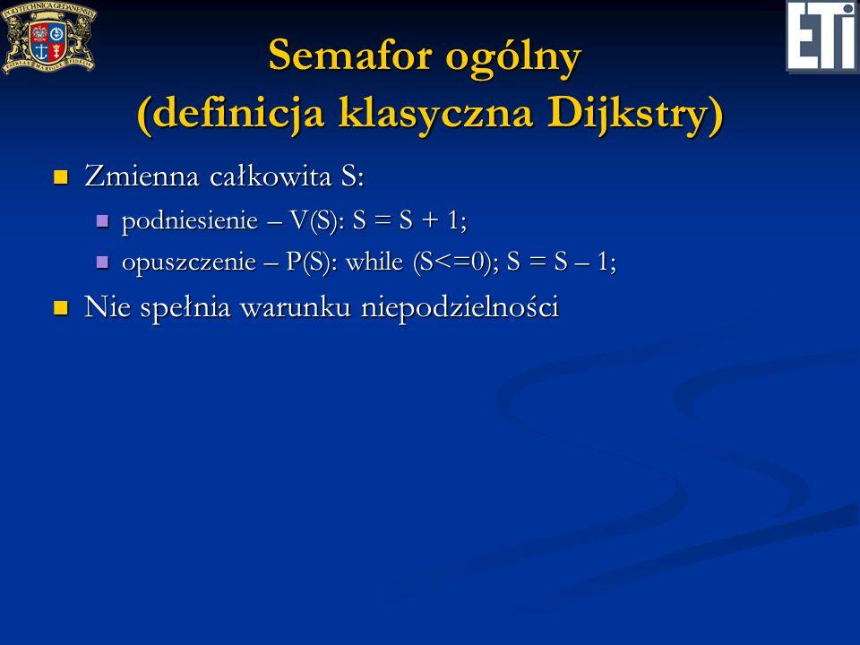 Semafor ogólny (definicja klasyczna Dijkstry)