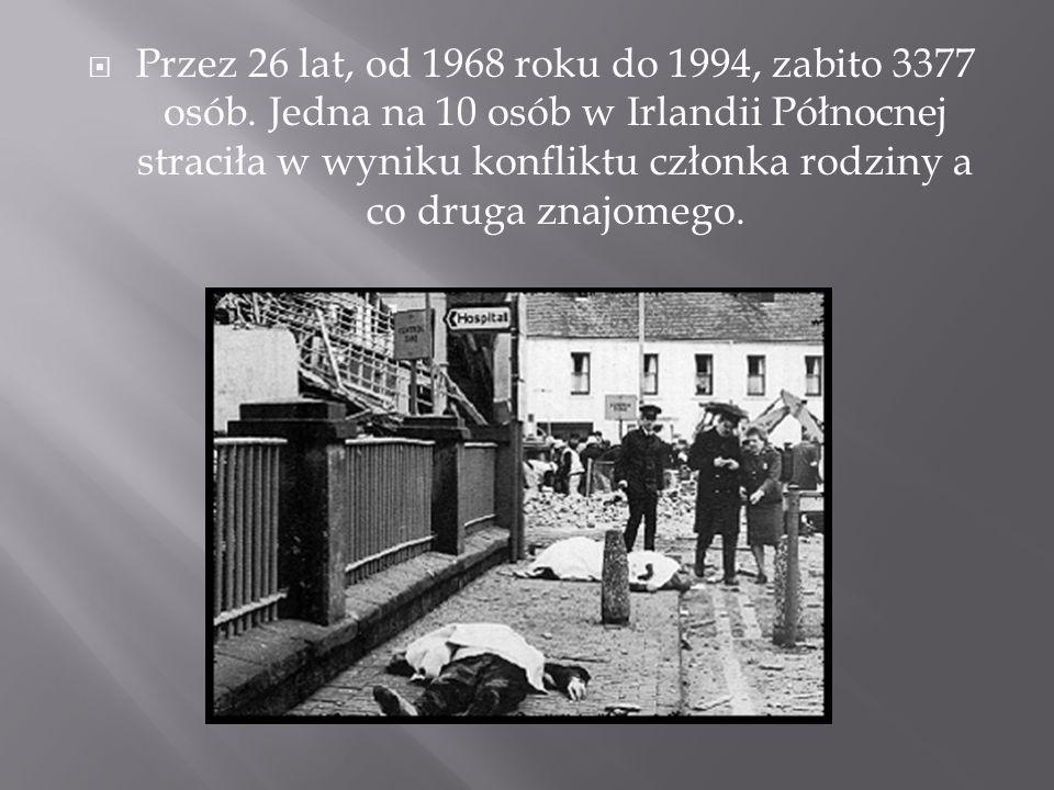 Przez 26 lat, od 1968 roku do 1994, zabito 3377 osób