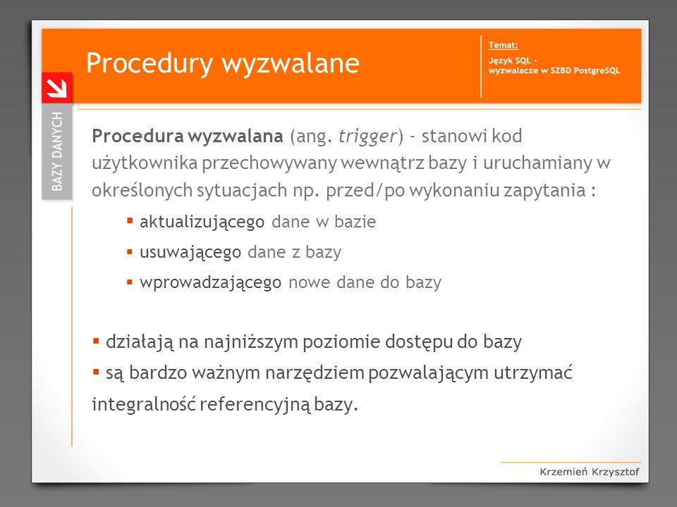 Procedury wyzwalane