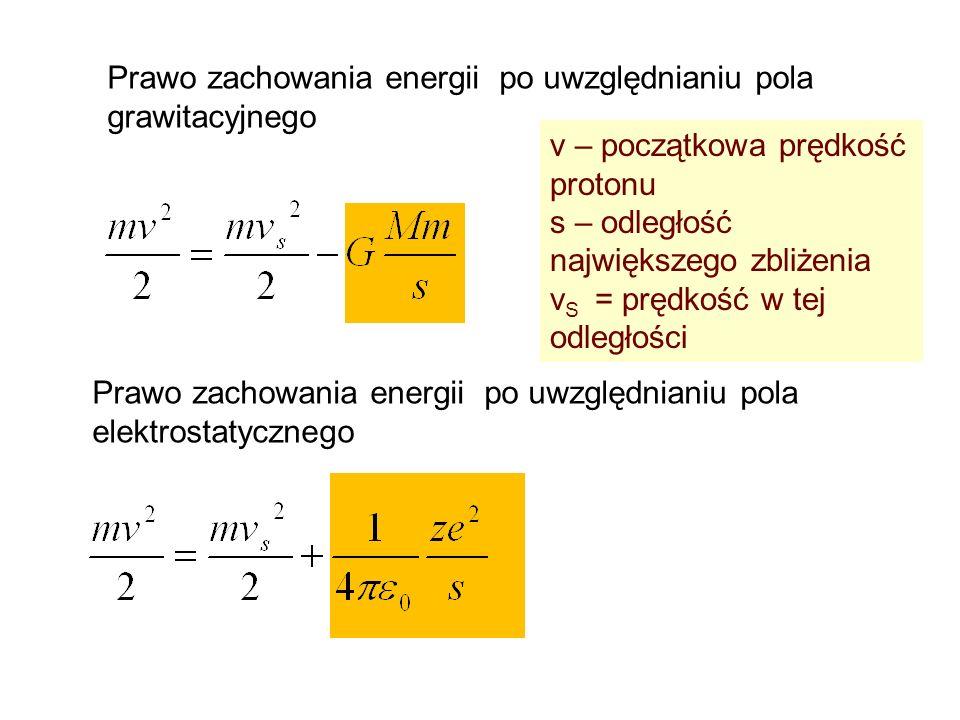 Prawo zachowania energii po uwzględnianiu pola grawitacyjnego