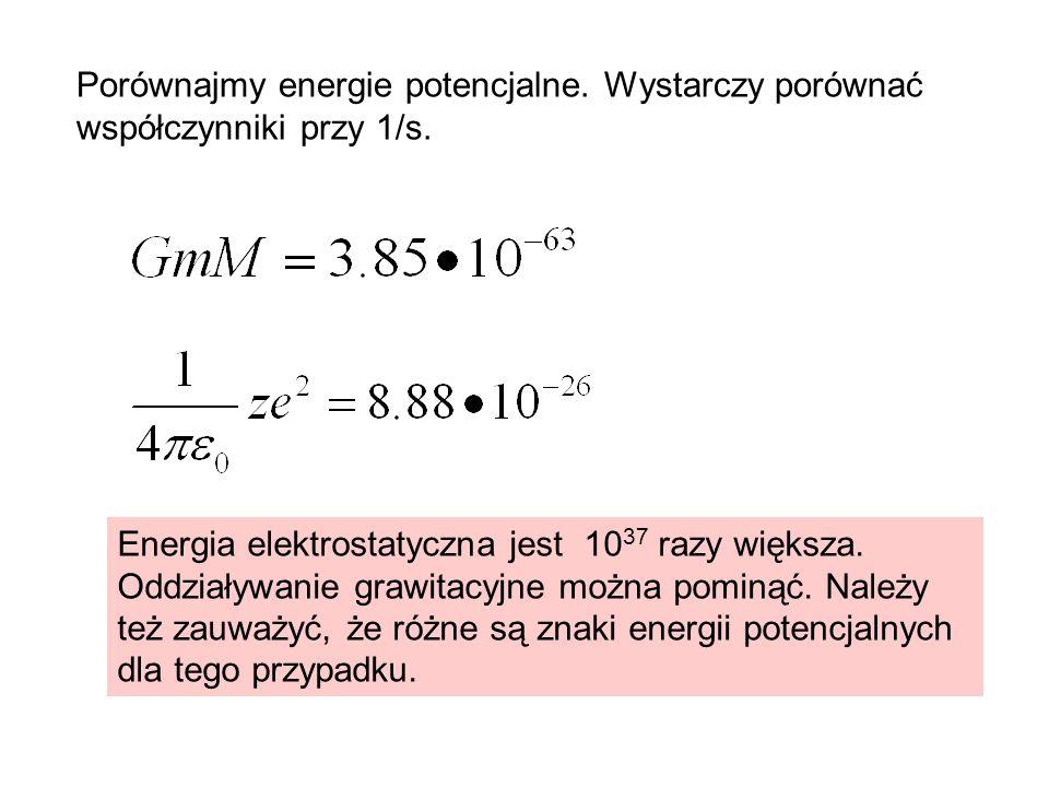 Porównajmy energie potencjalne