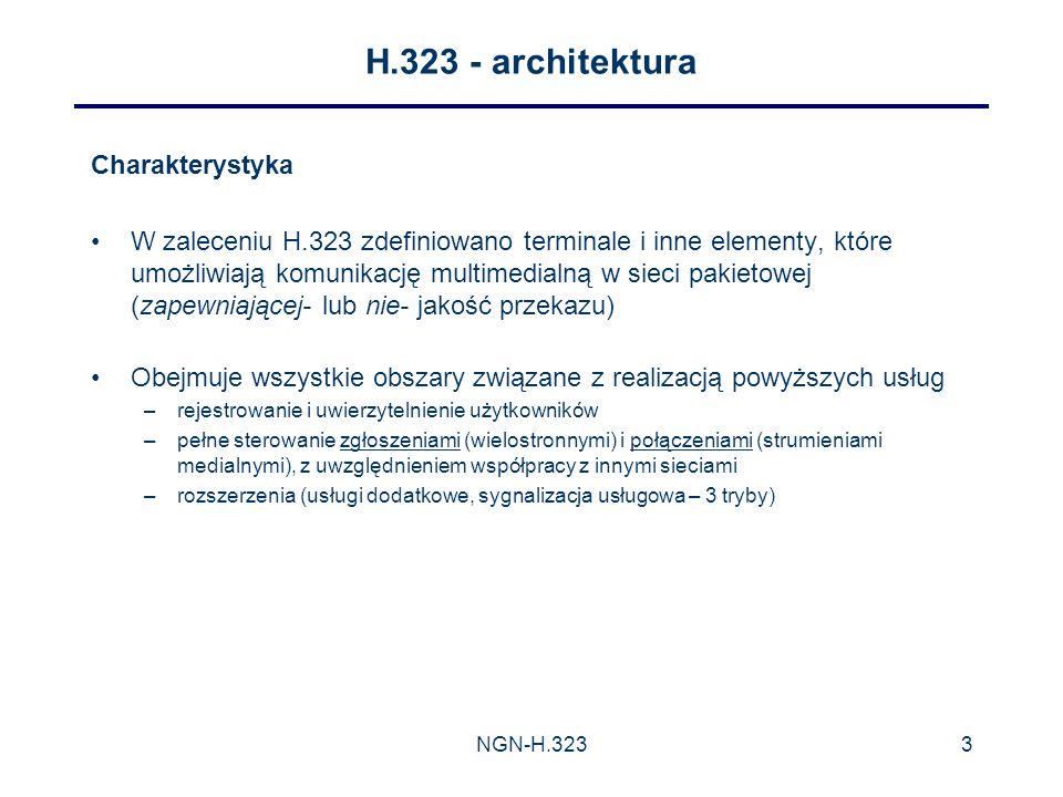 H.323 - architektura Charakterystyka