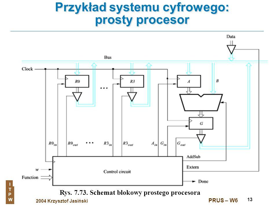 Przykład systemu cyfrowego: prosty procesor