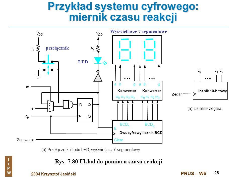 Przykład systemu cyfrowego: miernik czasu reakcji