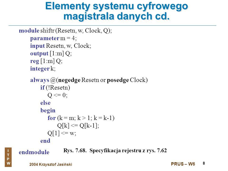 Elementy systemu cyfrowego magistrala danych cd.