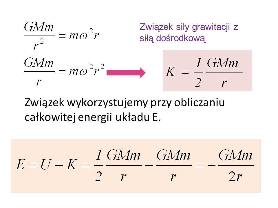 Związek wykorzystujemy przy obliczaniu całkowitej energii układu E.
