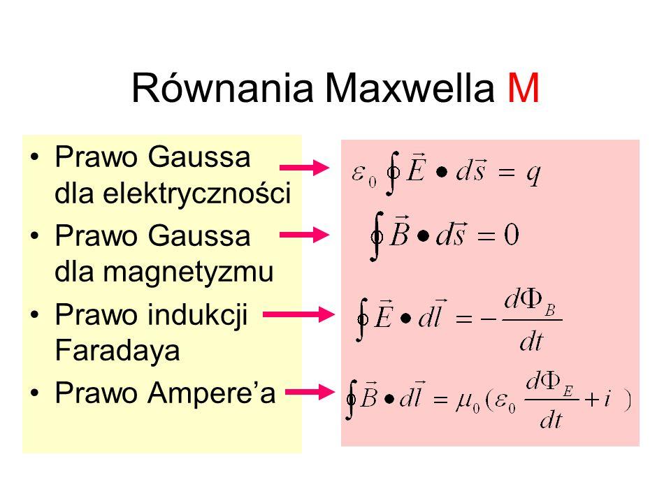 Równania Maxwella M Prawo Gaussa dla elektryczności