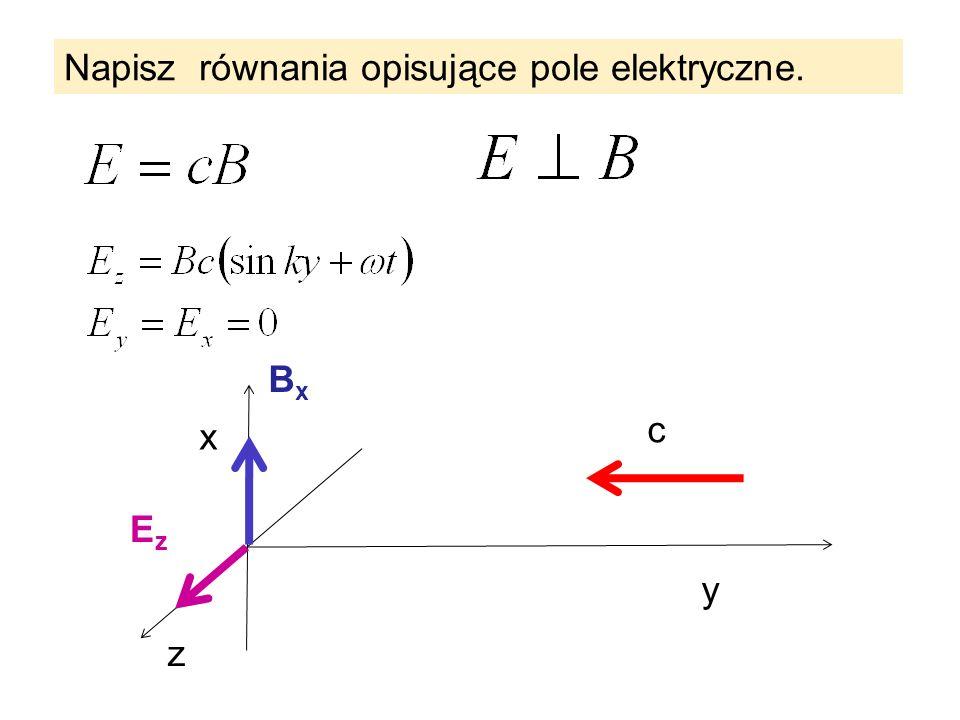 Napisz równania opisujące pole elektryczne.