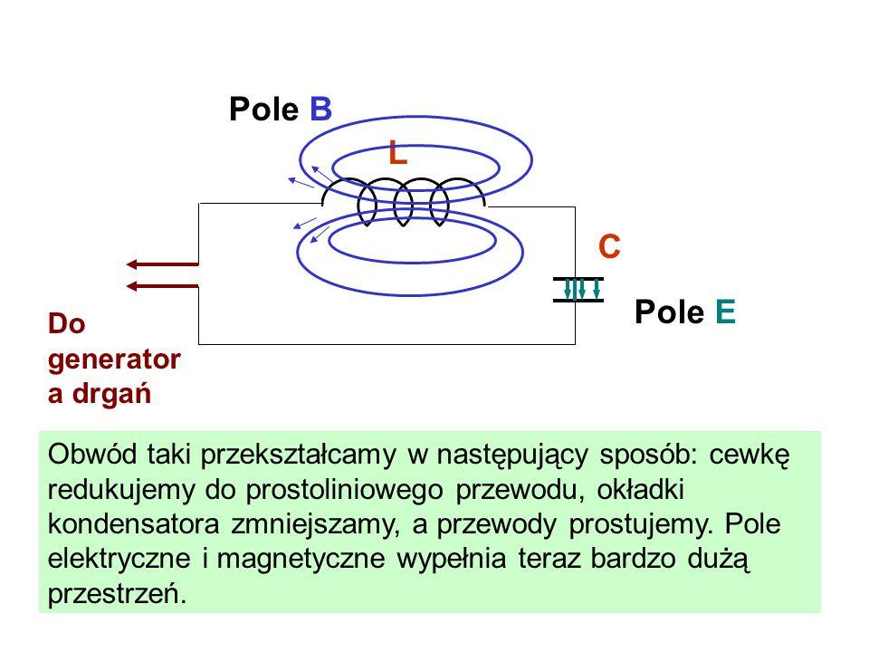 Pole B L C Pole E Do generatora drgań