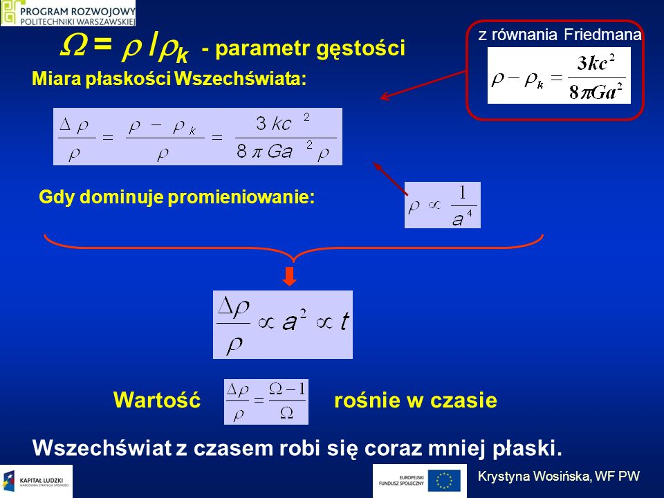  =  /k - parametr gęstości