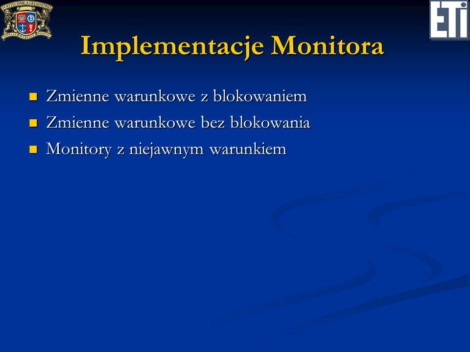 Implementacje Monitora