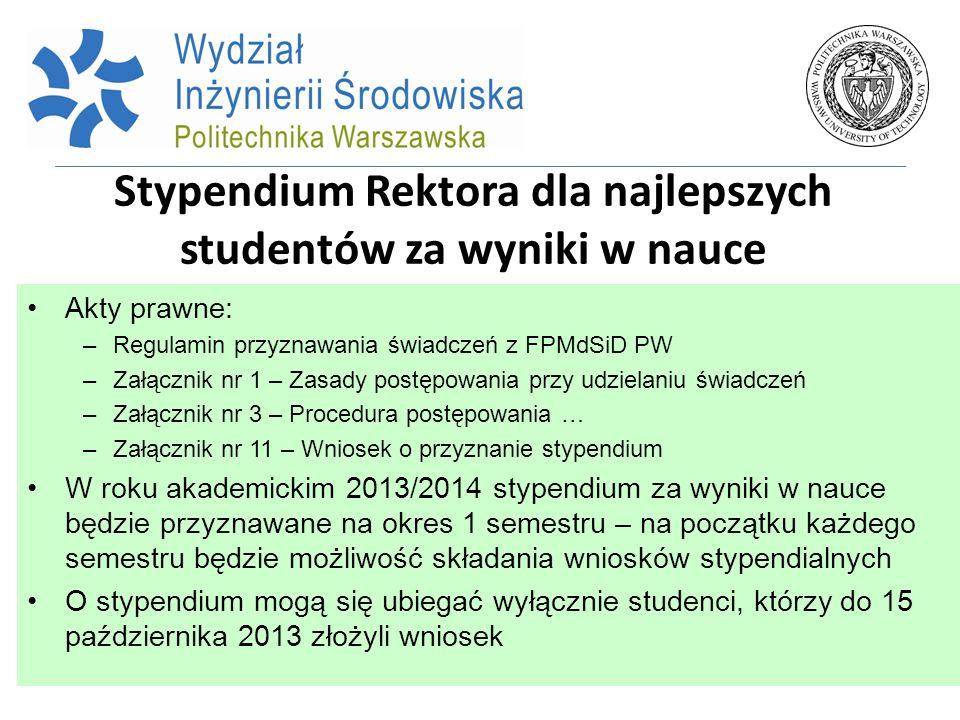 Stypendium Rektora dla najlepszych studentów za wyniki w nauce