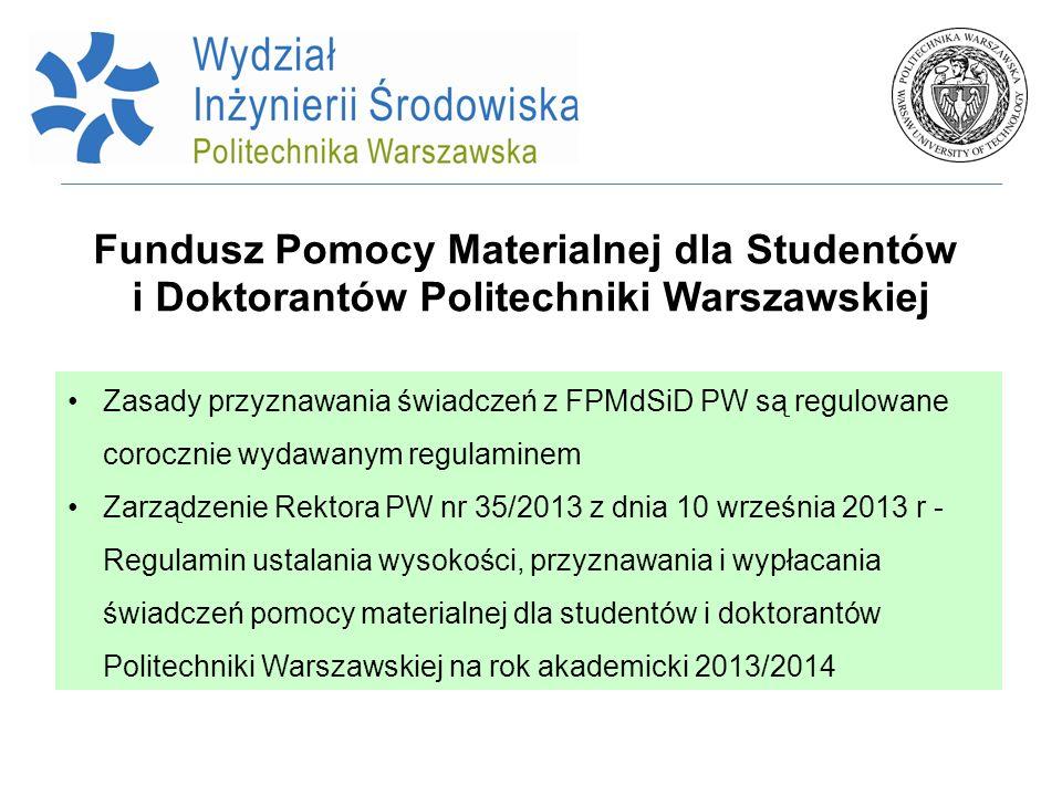Fundusz Pomocy Materialnej dla Studentów i Doktorantów Politechniki Warszawskiej
