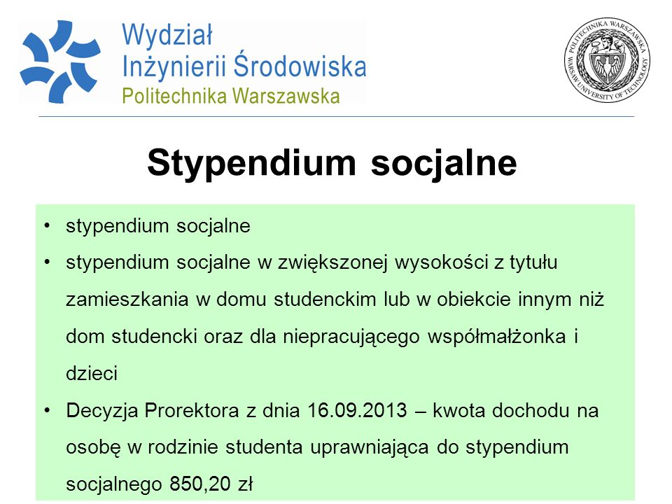 Stypendium socjalne stypendium socjalne