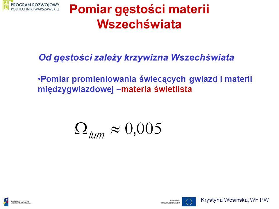 Pomiar gęstości materii Wszechświata